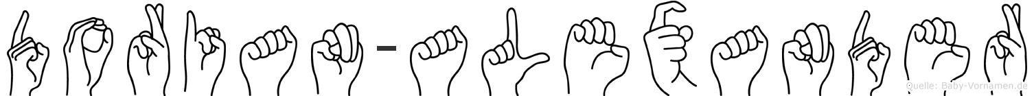 Dorian-Alexander im Fingeralphabet der Deutschen Gebärdensprache
