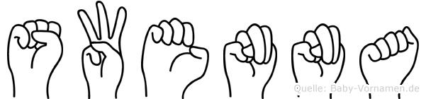 Swenna in Fingersprache für Gehörlose