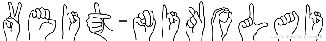 Veit-Nikolai im Fingeralphabet der Deutschen Gebärdensprache