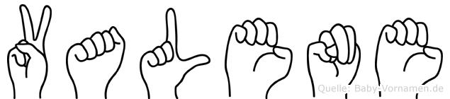Valene in Fingersprache für Gehörlose