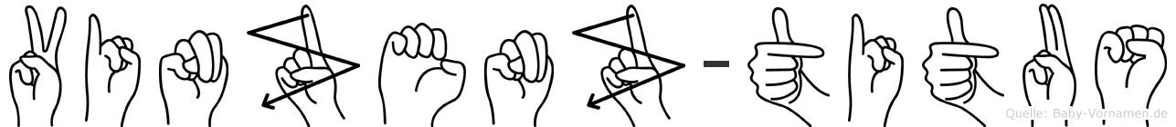 Vinzenz-Titus im Fingeralphabet der Deutschen Gebärdensprache