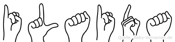 Ilaida in Fingersprache für Gehörlose