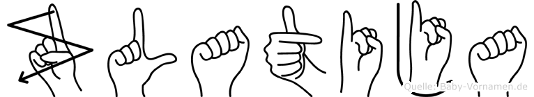 Zlatija in Fingersprache für Gehörlose