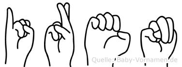 Iren im Fingeralphabet der Deutschen Gebärdensprache