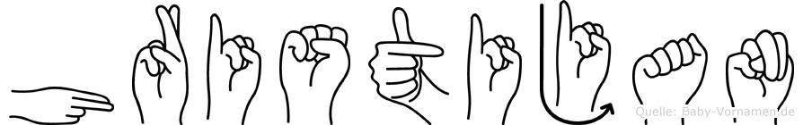 Hristijan in Fingersprache für Gehörlose