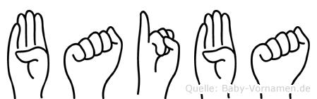 Baiba in Fingersprache für Gehörlose