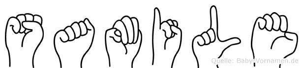 Samile in Fingersprache für Gehörlose