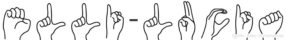 Elli-Lucia im Fingeralphabet der Deutschen Gebärdensprache