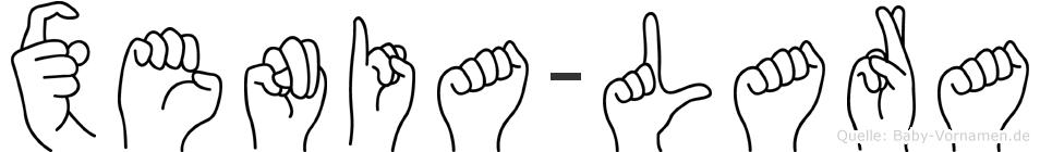 Xenia-Lara im Fingeralphabet der Deutschen Gebärdensprache