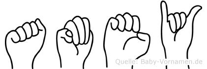 Amey in Fingersprache für Gehörlose