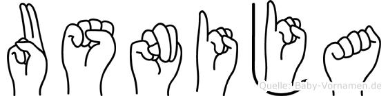 Usnija in Fingersprache für Gehörlose