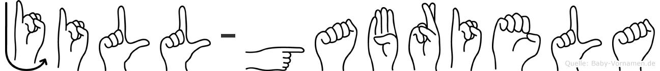 Jill-Gabriela im Fingeralphabet der Deutschen Gebärdensprache