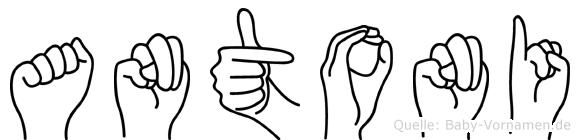 Antoni in Fingersprache für Gehörlose