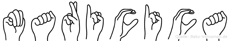 Maricica in Fingersprache für Gehörlose