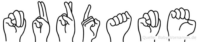 Nurdane im Fingeralphabet der Deutschen Gebärdensprache