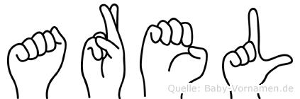 Arel im Fingeralphabet der Deutschen Gebärdensprache