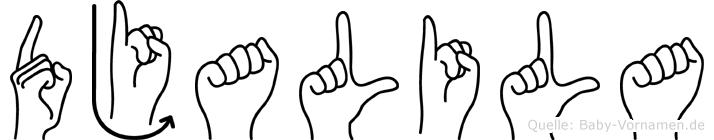 Djalila in Fingersprache für Gehörlose
