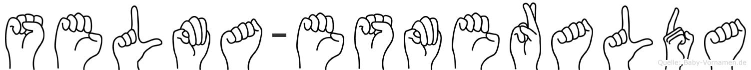 Selma-Esmeralda im Fingeralphabet der Deutschen Gebärdensprache