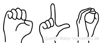 Elo im Fingeralphabet der Deutschen Gebärdensprache