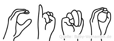 Cino in Fingersprache für Gehörlose