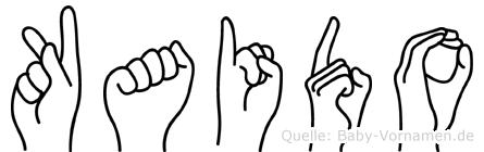 Kaido im Fingeralphabet der Deutschen Gebärdensprache
