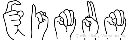 Ximun in Fingersprache für Gehörlose