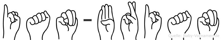 Ian-Brian im Fingeralphabet der Deutschen Gebärdensprache