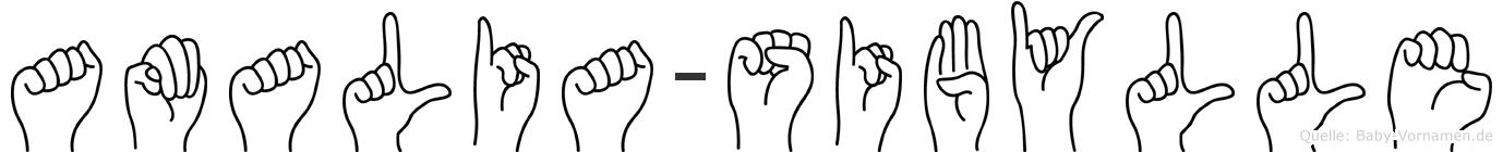 Amalia-Sibylle im Fingeralphabet der Deutschen Gebärdensprache