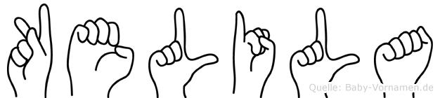 Kelila im Fingeralphabet der Deutschen Gebärdensprache