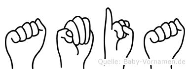 Amia in Fingersprache für Gehörlose