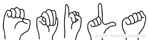 Emila in Fingersprache für Gehörlose