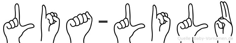 Lia-Lilu im Fingeralphabet der Deutschen Gebärdensprache