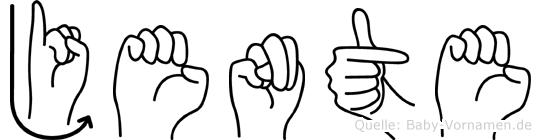 Jente im Fingeralphabet der Deutschen Gebärdensprache