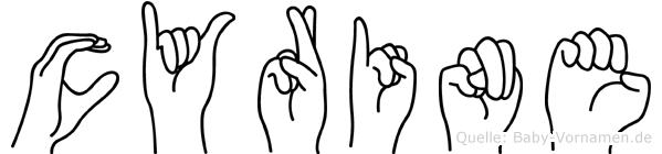 Cyrine im Fingeralphabet der Deutschen Gebärdensprache