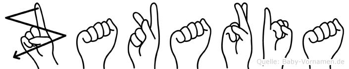 Zakaria in Fingersprache für Gehörlose