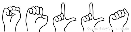 Sella im Fingeralphabet der Deutschen Gebärdensprache