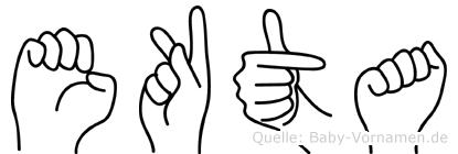 Ekta in Fingersprache für Gehörlose