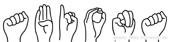 Abiona in Fingersprache für Gehörlose