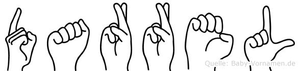 Darrel im Fingeralphabet der Deutschen Gebärdensprache