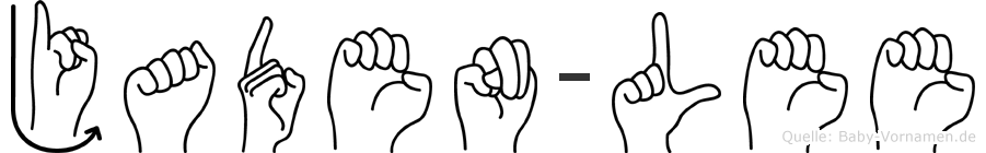 Jaden-Lee im Fingeralphabet der Deutschen Gebärdensprache