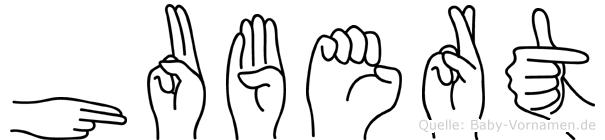 Hubert in Fingersprache für Gehörlose