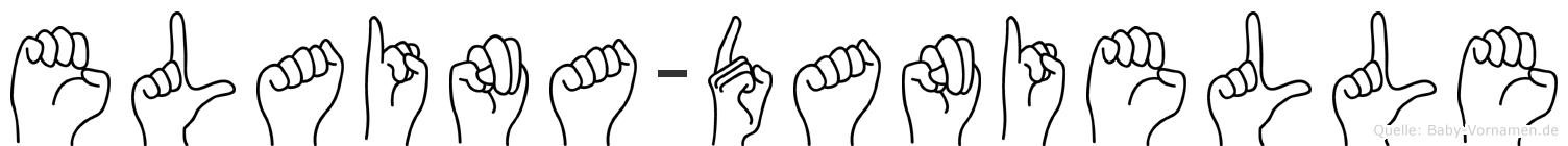 Elaina-Danielle im Fingeralphabet der Deutschen Gebärdensprache