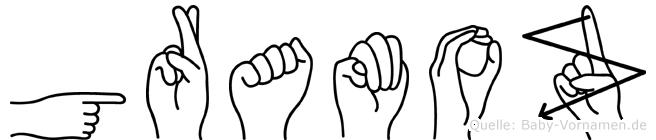 Gramoz in Fingersprache für Gehörlose