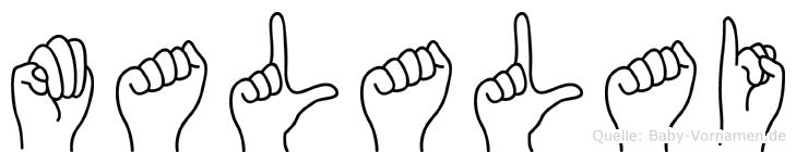 Malalai in Fingersprache für Gehörlose