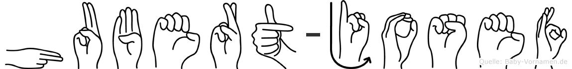Hubert-Josef im Fingeralphabet der Deutschen Gebärdensprache