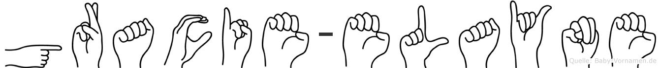 Gracie-Elayne im Fingeralphabet der Deutschen Gebärdensprache