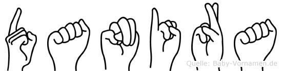 Danira im Fingeralphabet der Deutschen Gebärdensprache