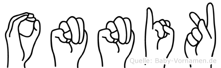 Onnik in Fingersprache für Gehörlose