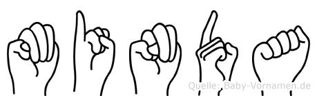 Minda in Fingersprache für Gehörlose