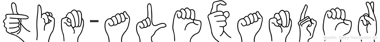 Tim-Alexander im Fingeralphabet der Deutschen Gebärdensprache